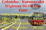 Colombo – Katunayake Express Highway SLTB (CTB) Bus Fare