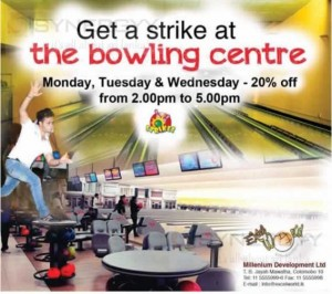Excel World Bowling Centre – 20% off on Monday, Tuesday & Wednesday