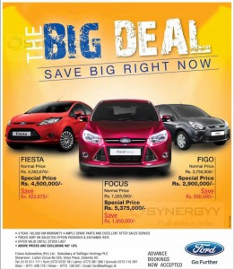 Ford Cars for Sale in Sri Lanka – Brand New Cars with attractive Discounts