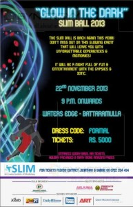 Glow in the Dark SLIM Ball 2013 on 22nd November 2013 at Waters Edge