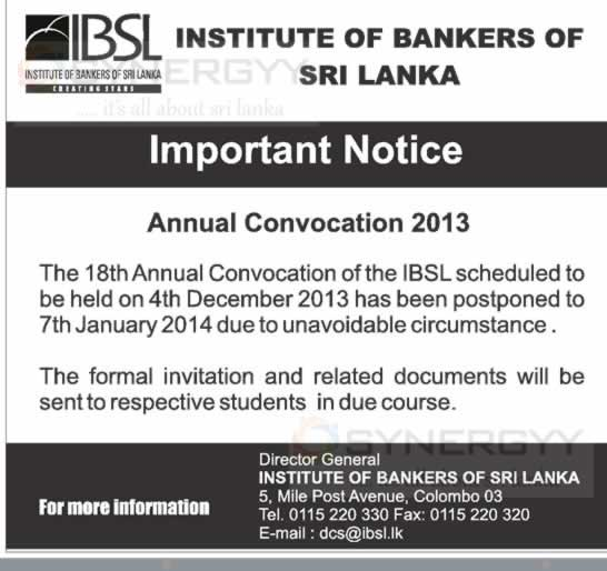 Institute of Bankers of Sri Lanka (IBSL) Professional Qualificaton