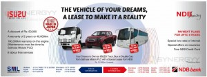 Isuzu Trucks Leasing Facilities with NDB Leasing