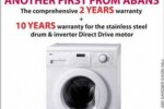 LG WD- 1280 Washing Machine for Rs. 116,900.00