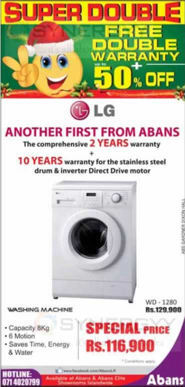 Lg Wd 1280 Washing Machine For Rs 116 900 00 Synergyy