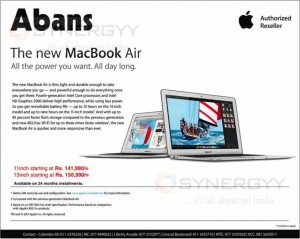 MacBook Air Price Rs. 141,990.00 Upwards – Nov Dec 2013