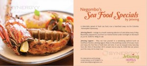 Negombo's Sea Food Specials by Jetwing – From 23rd November 2013 onwards