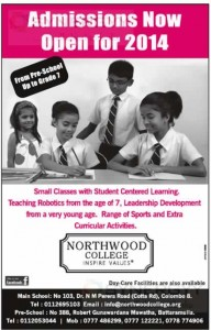 Northwood College, Colombo - Admissions Now Open for 2014