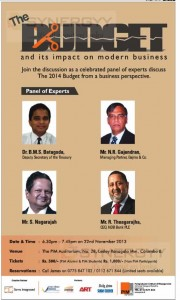 PIM Evening Discussion on Budget and its impact on modern business on 22nd November 2013