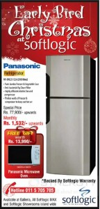 Panasonic Refrigerator for Rs. 77,900.00 Pre Christmas Sale from Softlogic