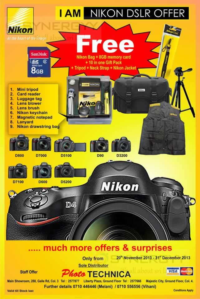 Photo Technica Nikon Camera Promotion Till 31st December