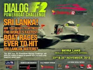 Power Boat Challenge in Colombo Sri Lanka on 23rd & 24th November 2013