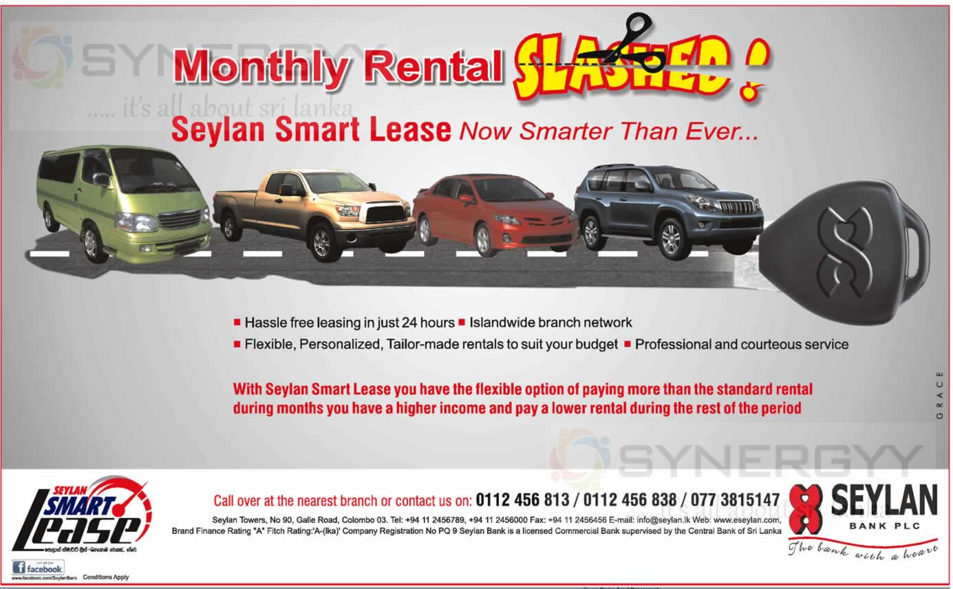 Seylan Bank Smart Leasing Facilities For Automobiles In