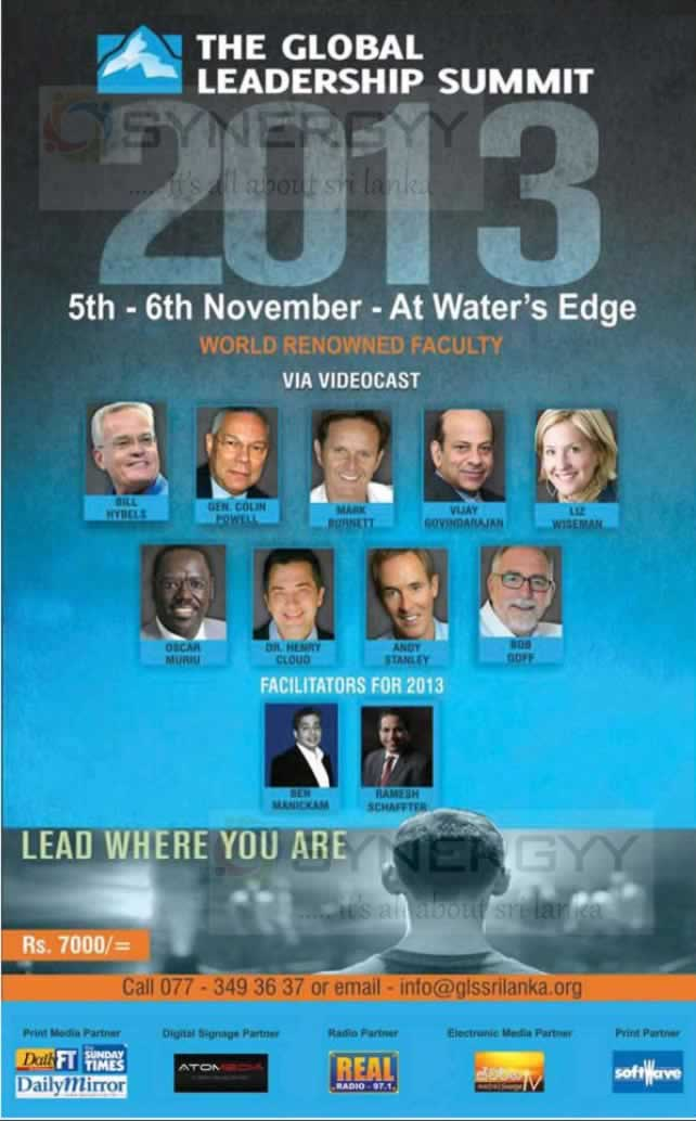 The Global Leadership Summit 2013 On 5th Amp 6th November 2013 At Water S Edge 171 Synergyy