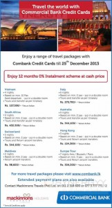 Travels & Tours Promotion for Commercial Bank Credit cards