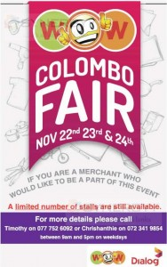 WOW Colombo Fair – 22nd to 24th November 2013