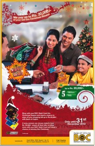 Bank of Ceylon Debit Card Promotion 2013 till 31st December 2013