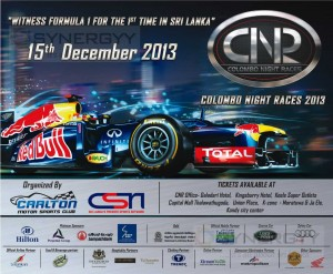 Colombo Night Race 2013 on 15th December 2013 in Colombo – Tickets Available now