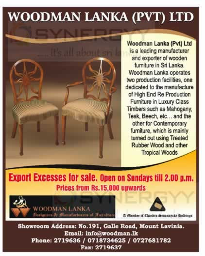 Export Quality Furniture for sale in Sri Lanka « SynergyY