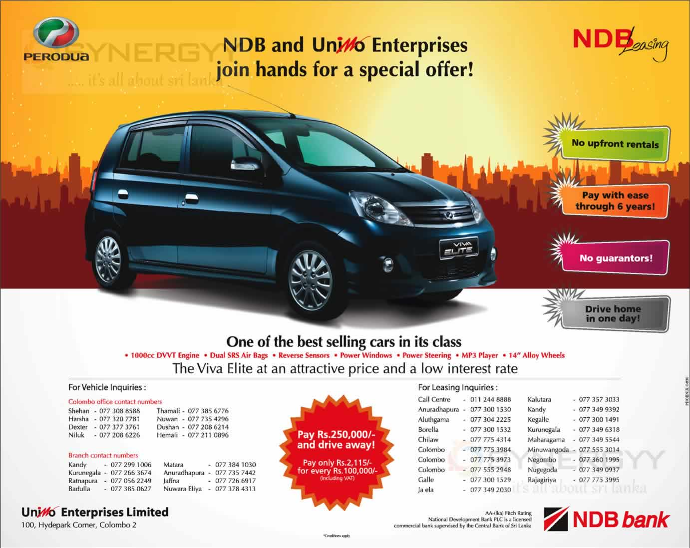 perodua viva elite leasing option with ndb leasing synergyy. Black Bedroom Furniture Sets. Home Design Ideas