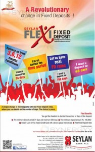 Seylan Bank Flexi Fixed Deposits – New way of deposits with your requested Period