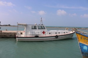 Speed boat from Delft island to KKD (Ambulance Boat)