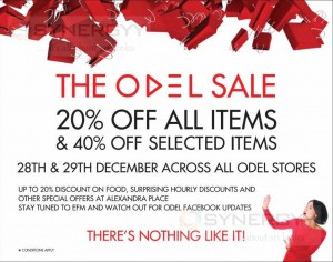 The ODEL Sale on 28th to 29th December 2013