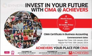 Achievers CIMA Certificate in Business Accounting (CIMA Foundation Level) New batch – January 2014