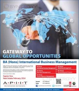 BA (Hons) International Business Management – Bachelor Degree Programme from APIIT Business School