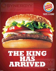 Burger King Now in Sri Lanka