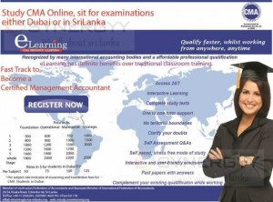 CMA E-learning Registration and Course Fee for Sri Lanka and Dubai Students – January 2014