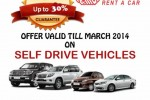 Casons Rent a Car Rates and Discount Promotions till March 2014