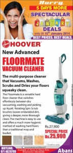 Hoover Vacuum Cleaner Promotion – Last Day today