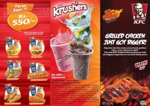 KFC Dine in  Menu1