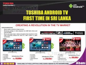 Toshiba Android TV Now available in Sri Lanka