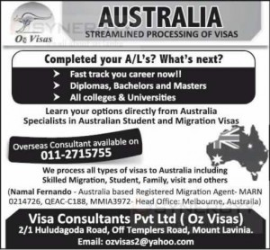 Australia Student Migration Visa Consultants in Colombo