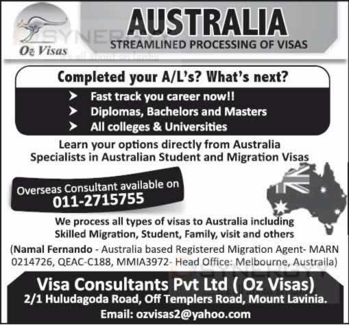 Australia Student Migration Visa Consultants In Colombo