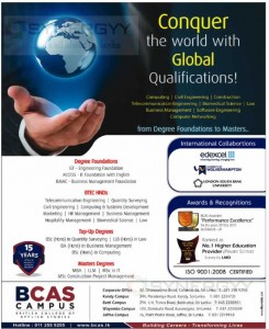 BCAS Campus – Degree Foundation to Master degree Programme Details – February 2014
