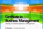 BMS Certificate in Business Management – a Short course towards Graduate Diploma in Management – Enrolment Starts
