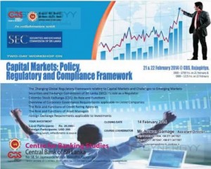 Capital Markets Policy, Regulatory and Compliance Framework of 2 days workshops
