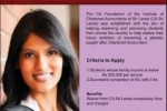Chartered Accountants Sri Lanka Scholarships (L A Weerasinghe Scholarships)- January/February 2014