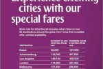 Emirates Special Air fare for March 2014 and travel till end of April 2014 – Open for Booking now Now