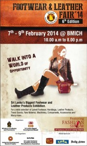 Footwear & Leather Fair 2014 from 7th to 9th February 2014 at BMICH