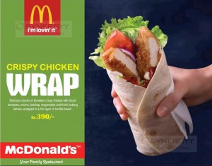 Mc Donald's Crispy Chicken Price is LKR. 390.00 in Srilanka