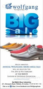 Wolfgang Shoe Big Sale at BMICH on 7th to 9th February 2014