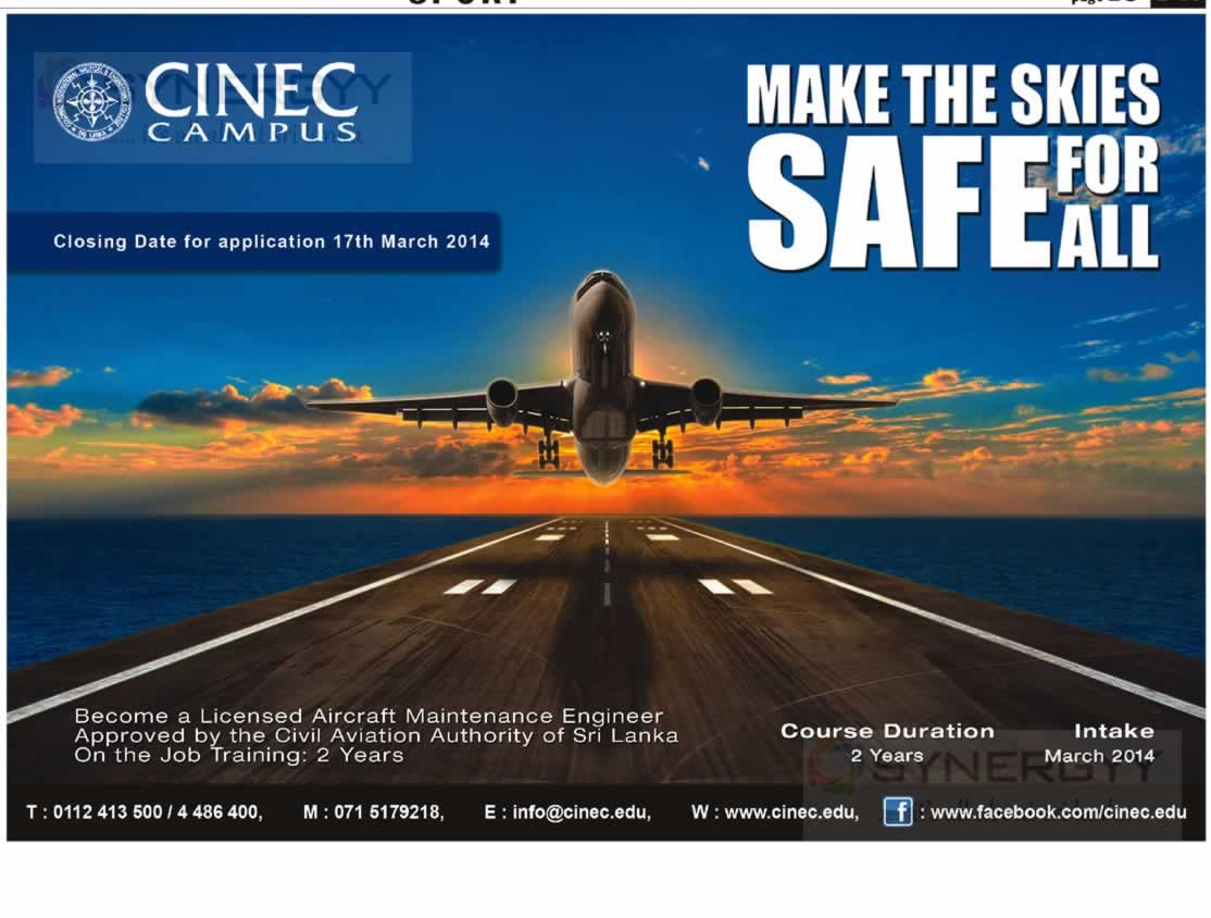 Licensed Aircraft Maintenance Engineer in Srilanka from