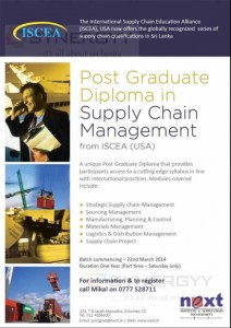 Post Graduate Diploma in Supply Chain Management from ISCEA (USA)