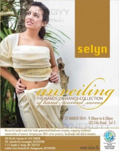 Selyn Hand worked Sarees in Srilanka – 22nd March 2014 from 9.30 Am to 6.30 Pm