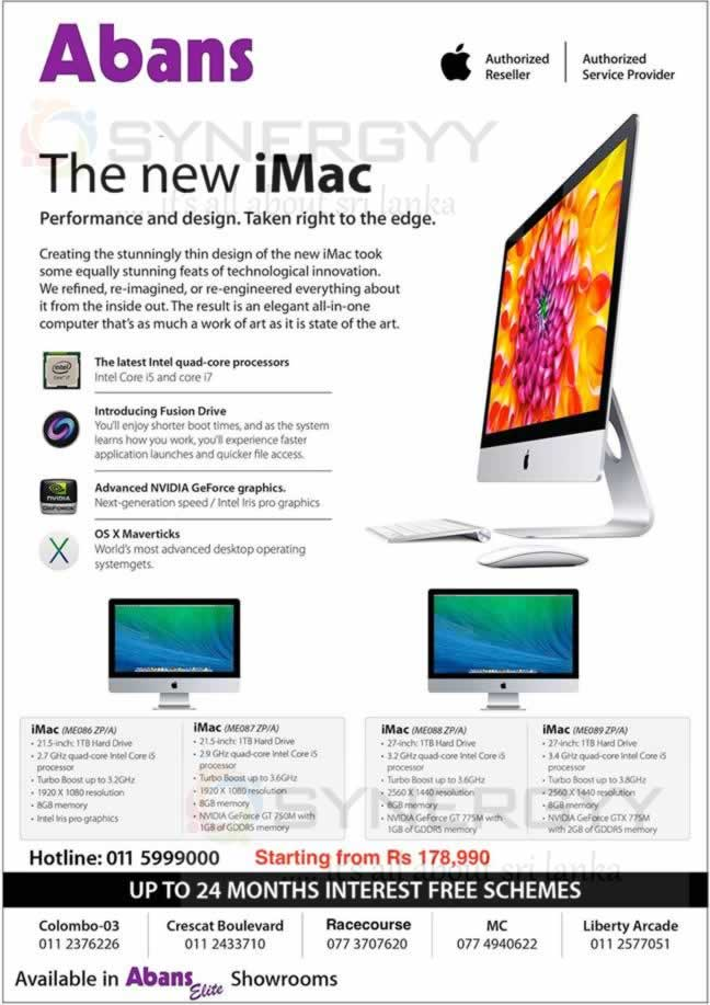 Apple Computers Prices in Sri Lanka Apple Imac Prices in Sri Lanka