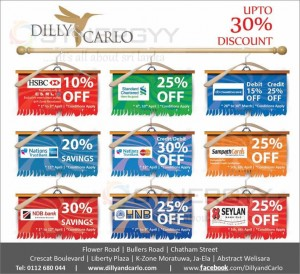 Dilly &Carlo Credit Card Promotions for this Sinhala Tamil New Year 2014