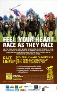 Horse Racing Festival; Nuwara Elia 2014 – 6th, 15th and 19th April 2014 Race event at Nuwara Elia
